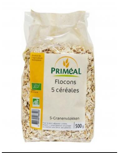 FLOCONS 5 CÉRÉALES 500 G PRIMÉAL